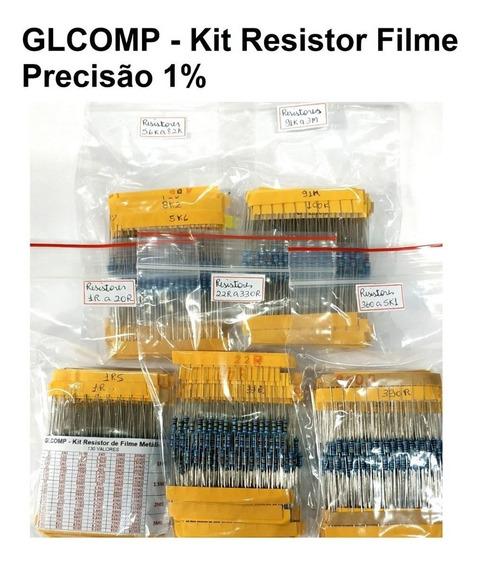 Resistor Filme Metálico Precisão 1% 1/4 1300 Pçs 130 Valores