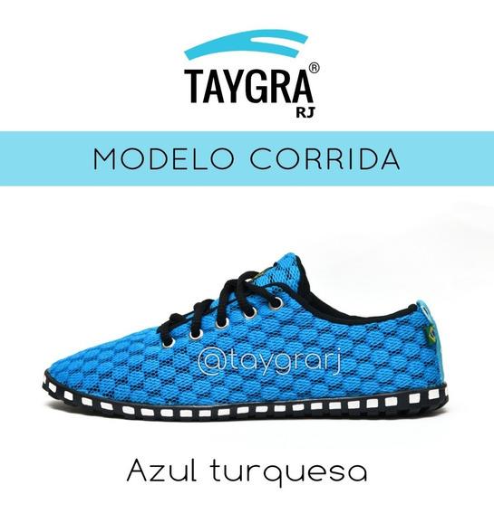 Black Friday! Tênis Taygra Comfort Azul Turquesa