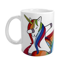 Caneca Unicornio Dab Arco Iris Ceramica