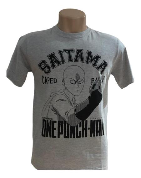 Camiseta Saitama - Anime - Cor Cinza - Unissex
