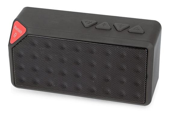Caixa De Som X3 Com Microfone Integrado Wireless Preto