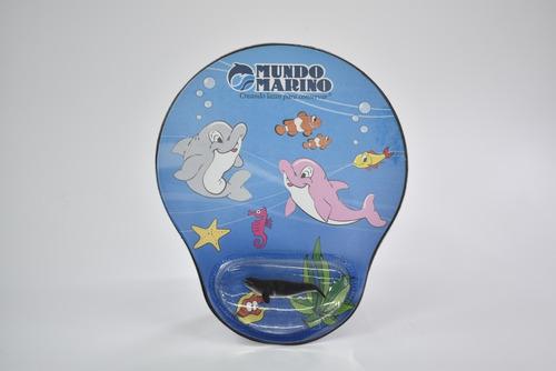 Mouse Pad Oceano Con Apoya Muñeca Mundo Marino