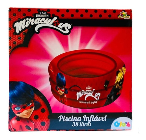 Piscina Inflavel Kids Miraculous Lady Bug 38 L