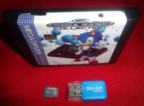 Everdrive Mega Drive + Cartão 8 Gb + 1000 Jogos + Brinde