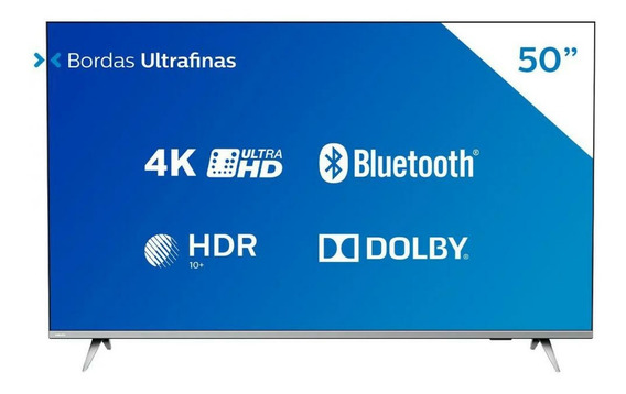 Smart Tv 4k Led 50 Philips 50pug6654/78 Wi-fi - Bluetooth 3