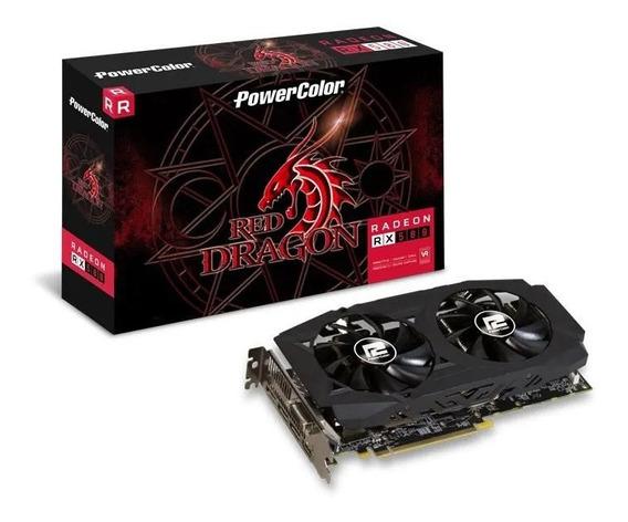 Placa De Vídeo Radeon Rx 580 Red Dragon 8gb Gddr5 Powercolor