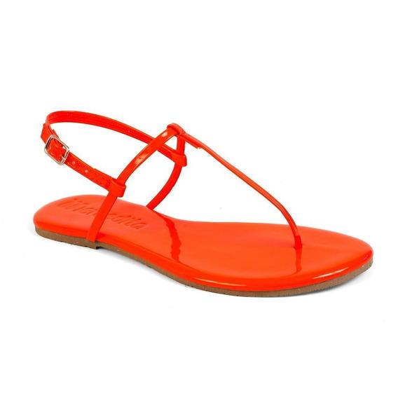 Sandália Feminina Flat Básica Mercedita Shoes Verniz