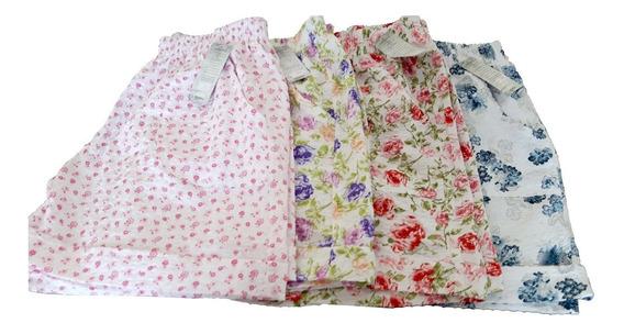 Kit Com 5 Short Algodão Infantil Juvenil Feminino Estampado