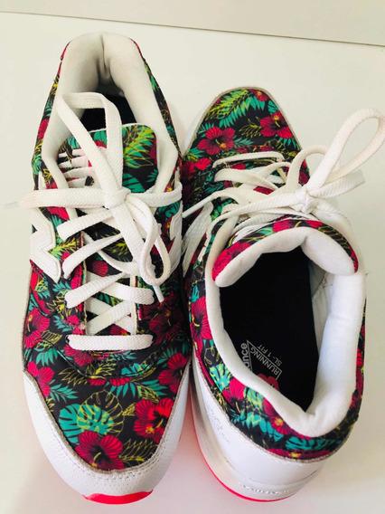 Tênis New Balance Floral Como Novo !!