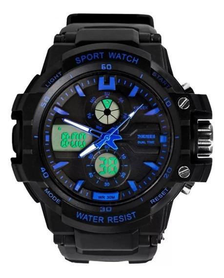 Relógio Infantil Skmei Anadigi 0990 Azul Original