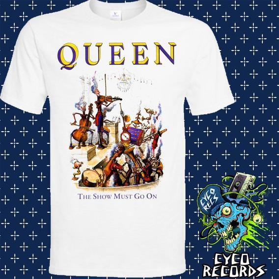Queen Show Must Go On - Blanca - Rock - Polera- Cyco Records