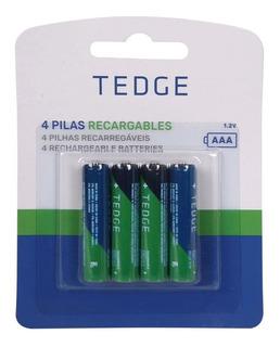 Pilas Recargables Aaa 850mah Pack Por 4 Unidades Tedge