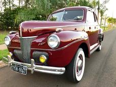 Ford Fordao Coupe V8 1941 Placa Preta Aceito Troca Doge F100
