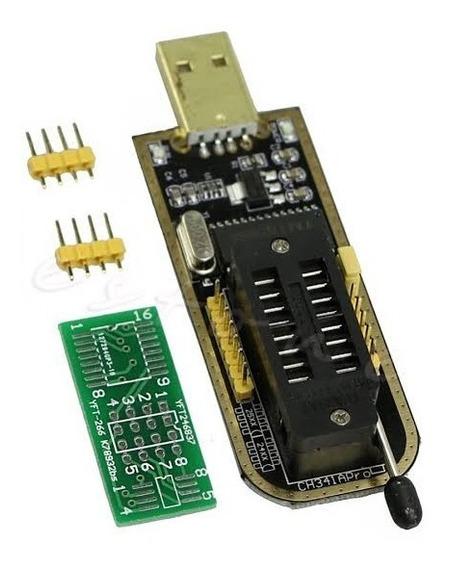 Gravador Ch341a Usb Grava Memoria Flash Eprom 24x 25x