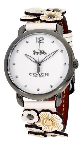 Relógio Feminino Coach 14502746 Pulseira De Couro