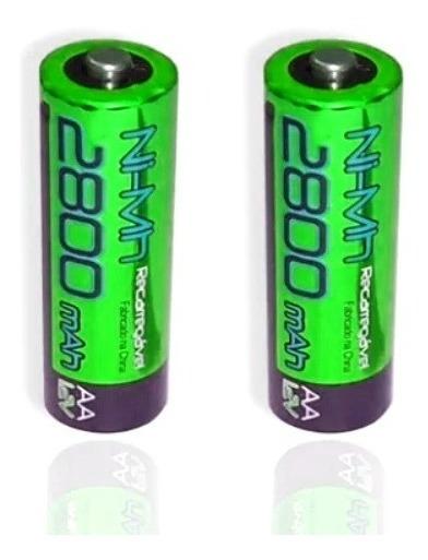Pilha Bateria Flex Aa C/02 2800mah Pré Carregadas - Original