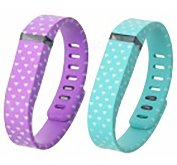 415926 White Hearts Wrist Band For Fitbit Fle Sob Encomenda