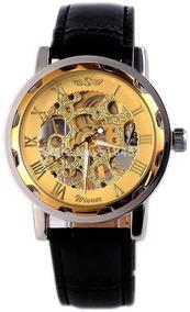 Relógio Mecânico Dourado Super Moderno. Frete Grátis.