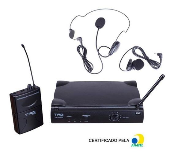 Microfone Sem Fio Lapela Headset Tag Sound Tagima Tm559hsl