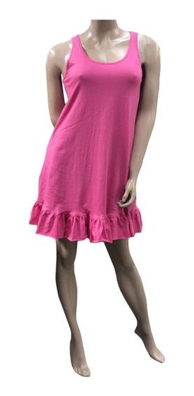 Vestido Musculosa Corto (043)- Con Volado Abajo -jersey De Algodón- Talle 1 Al 5 - Somos Fabricantes.