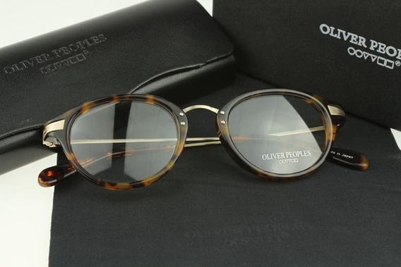 Armação De Oculos Oliver Peoples Haste Metal Cor Tortoise