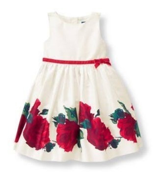 Vestido Festa Janie & Jack Floral Ivory Rose Tamanho 6