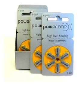 30 Baterias Para Aparelho Auditivo Powerone, P10, Val.2022