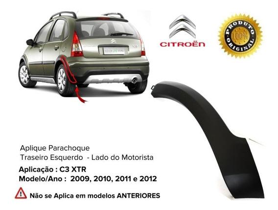 Aplique Parachoque Citroen C3 Xtr Tras/esq. 2009 10 11 12