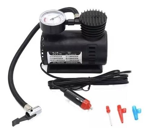 Mini Compresor Inflador D Aire 12v Auto C/ Medidor D Presion