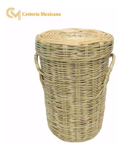 Imagen 1 de 3 de Bote Carrizo Mediano Natural Ropero Cesto