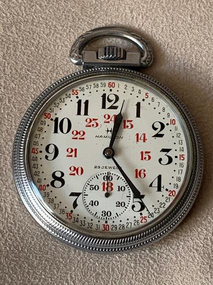 Reloj De Bolsillo Hamilton De Ferrocarrilero