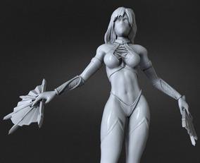 Kitana - Mortal Combat Stl Impressão 3d