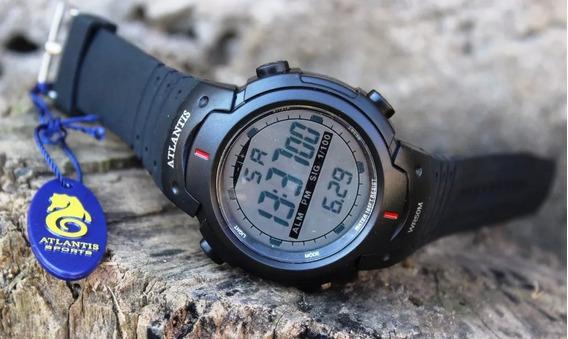 Relógio De Pulso Digital Atlantis Shock Militar Prova D´água