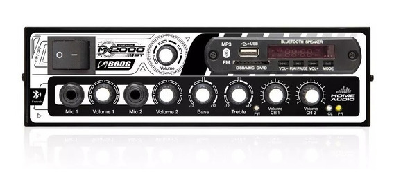 Amplificador Mixer Mesa 300 Watts 2 Canais Som Igreja Casa