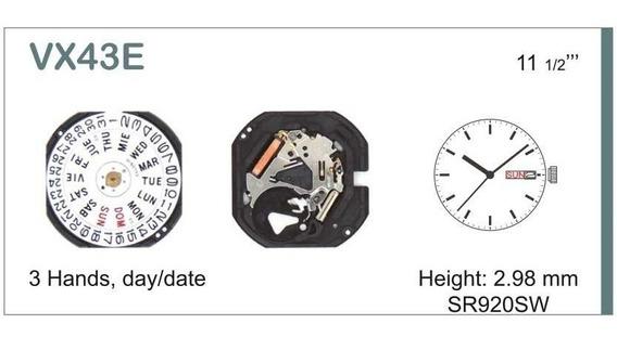 Maquina Vx43e Para Relógios Orient, Seculus, Technos...