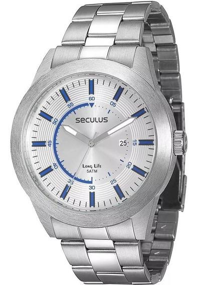 Relógio Seculus Masculino 28536g0sgna1 Pulseira 19cm