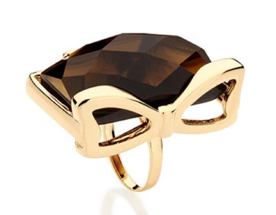 Anel Folheado A Ouro Rommanel Com Cristal 511724