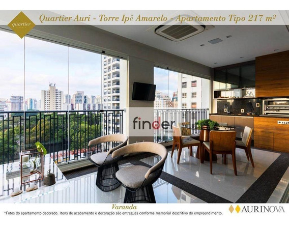 Apartamento No Quartier Auri Com 3 Dormitórios À Venda, 217 M² Por R$ 6.210.000 - Vila Olímpia - São Paulo/sp - Ap12713