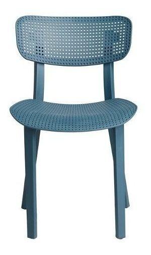 Silla De Plastico Gadget Azul