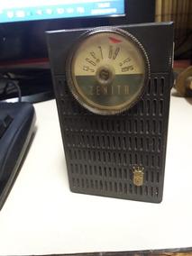 Antigo Radio Portátil Zenith Transist. Anos 60 Funcionando