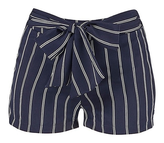 Short Casual Botones Moño O Falda Short Moda Tallas Ch - Xg