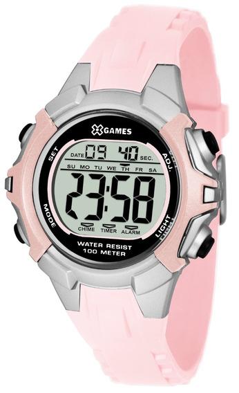 Relógio X-games Feminino Digital Xfppd053 Bxrx Rosa