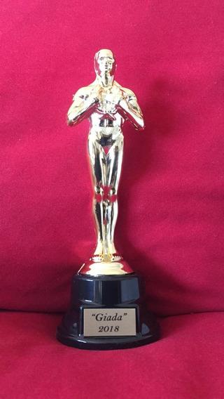 Estatuilla Oscar Base Plást. Mini 17cm Con Grabado Incluido