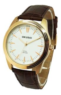 Reloj Okusai Steel Wr 50m. Acero Color Garantía Oficial 12m