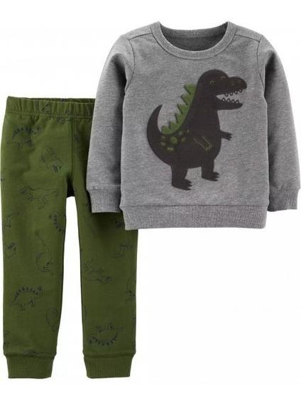 Conjunto 2 Pçs Dinossauro Carters Menino Inverno
