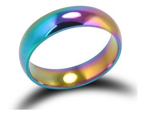 Anel Unissex Arco Íris Rainbow