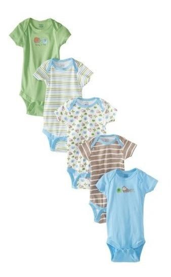 5 Unidades De Bodys Para Bebes Gerber 0-3 Meses Original