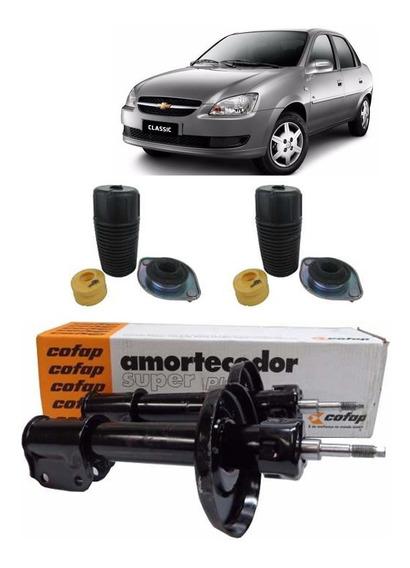 Par Amortecedor Dianteiro Com Kit Corsa Classic 2011 - Cofap