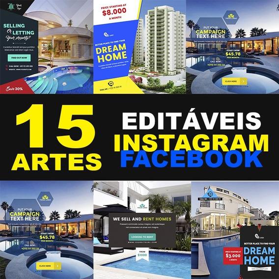Artes Para Rede Social 100% Editáveis - Imobiliária.