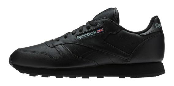 Tenis Reebok Classic Leather Negro Casuales Envío Gratis